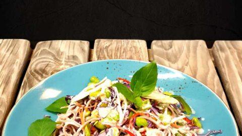 Soba-Nudelsalat mit Cashew-Dressing - vegan
