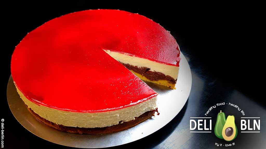 Rotkäppchen-Kuchen mit Quarkcreme