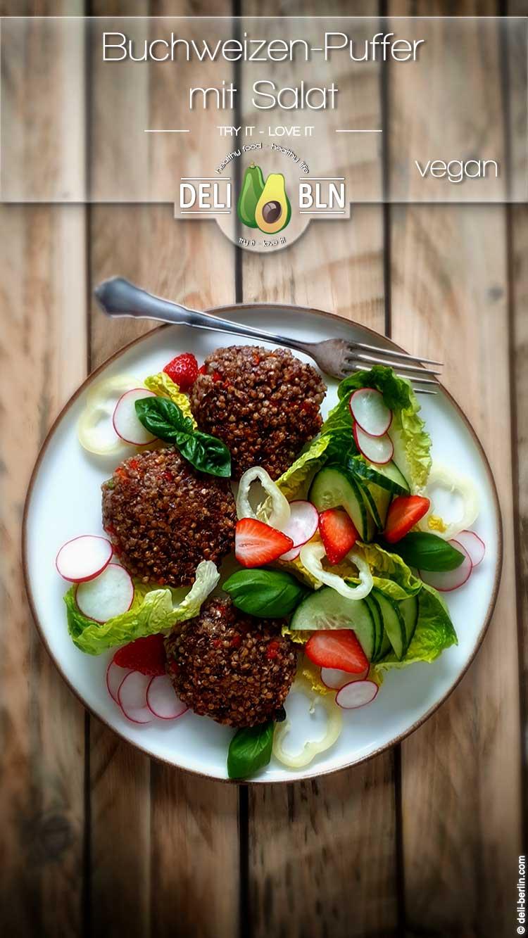 vegane Buchweizenpuffer zum Salat   glutenfrei und lecker   DELi ...