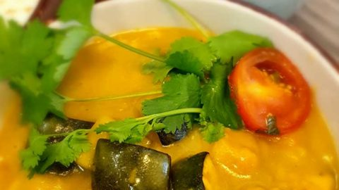 Ayurveda Kichererbsen Zucchini Curry - vegan