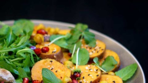 Süßkartoffelsalat mit Hummus aus 1001 Nacht