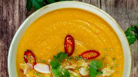 vegane Süßkartoffel-Kohlrabi-Suppe