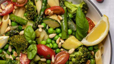 Pasta Primavera mit extra Gemüse