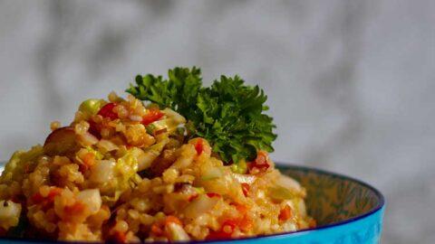einfacher und gesunder Quinoa-Kohl-Salat
